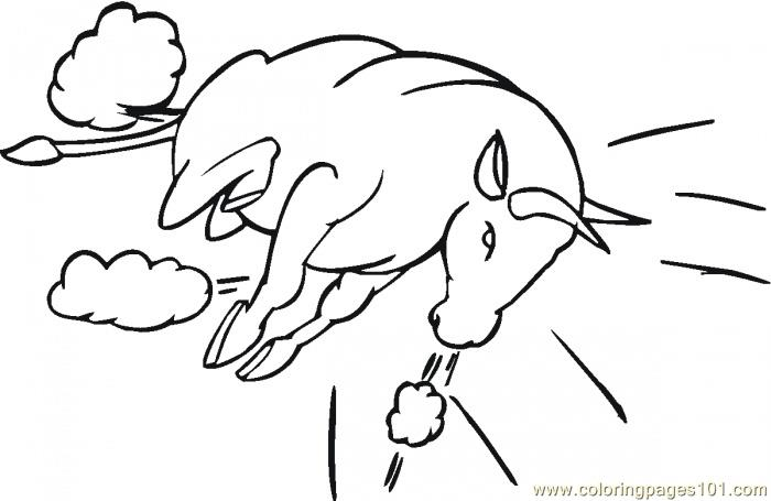 Bull Coloring Page