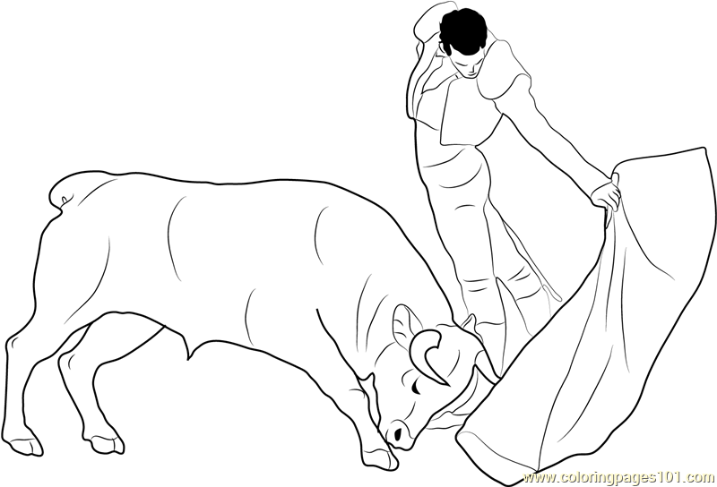Spanish Buffalo Coloring Page Free Spain Coloring Pages Spain Coloring Page