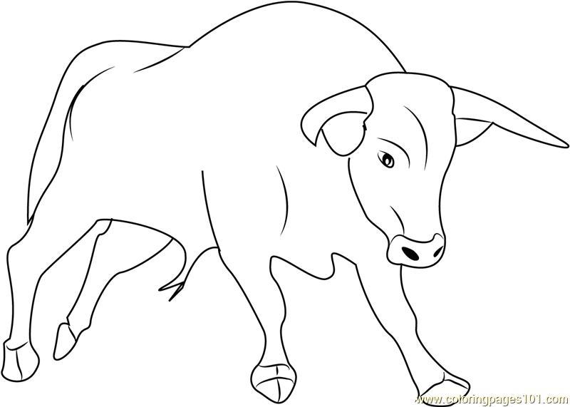 strong bull coloring page free bull coloring pages Benny the Bull Coloring Pages  Bull Coloring Pictures