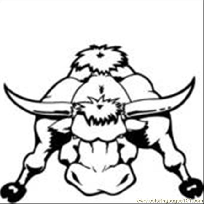 Bull2 Coloring Page Free Bull Coloring Pages