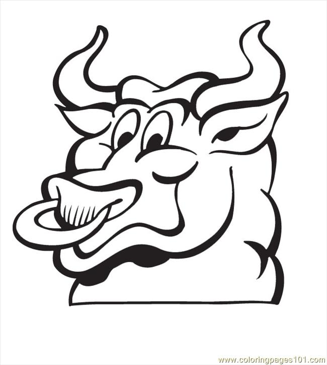 Bull Coloring Pages02 Coloring Page