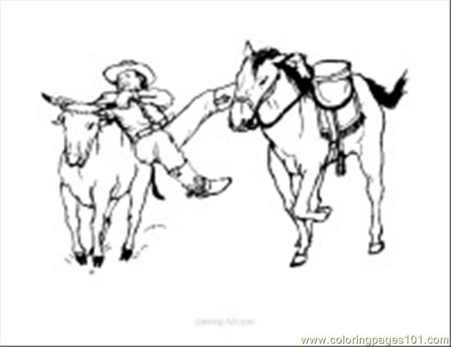 Cow Coloring Page 13 Coloring Page