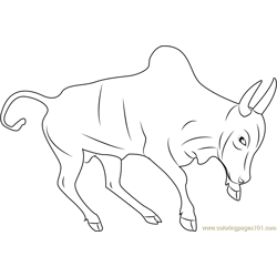 Indian Bull Free Coloring Page for Kids