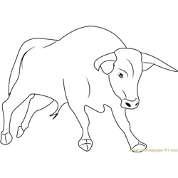 Strong Bull Free Coloring Page for Kids
