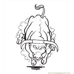 Bull Coloring Pages04