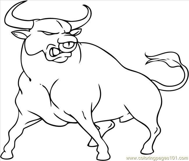 To Draw A Cartoon Bull Coloring