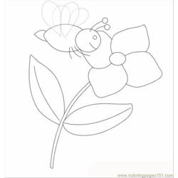Bee And Flower T coloring page