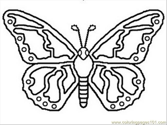 b for butterfly coloring pages - photo#35