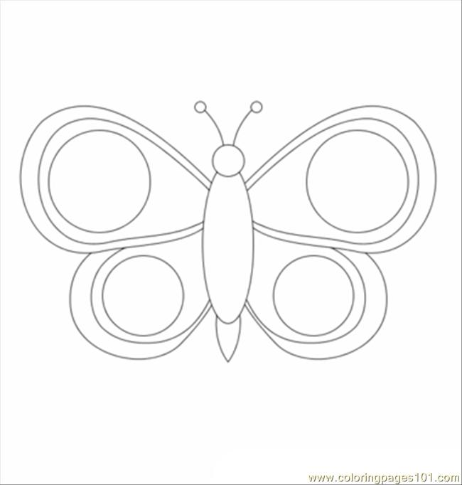 Butterfly T Coloring Page