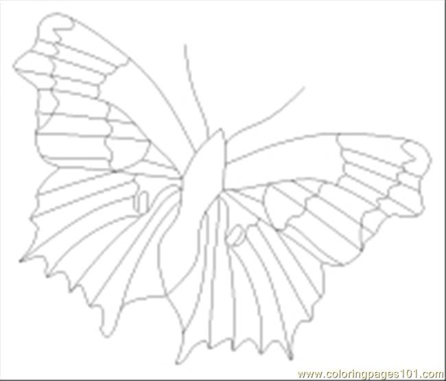 Butterfly Thumb Coloring Page