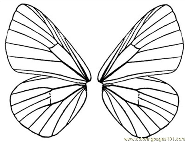 Butterfly Wings 5 Coloring Page