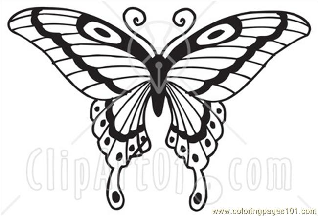 E Asian Swallowtail Butterfly Coloring Page - Free Butterfly ...