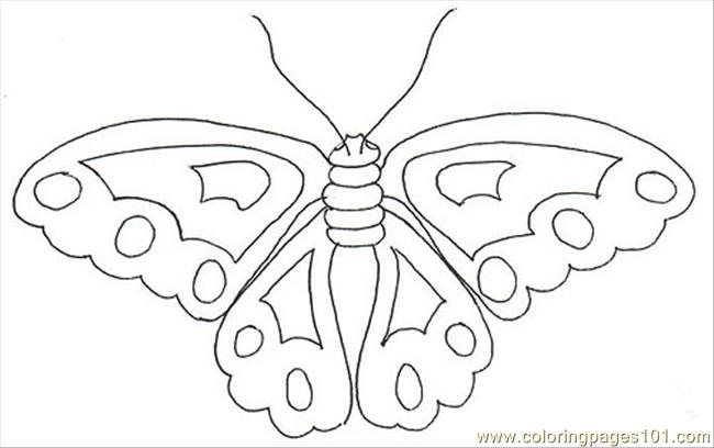 Embroidery Butterfly 01 Coloring Page