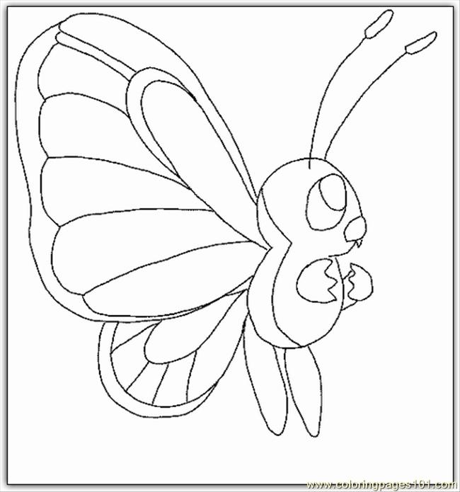 Kemon Butterfly Coloring Page Coloring Page