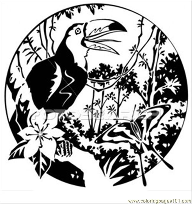 Terfly Rainforest Coloring Page