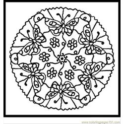 Animal Mandalas 3 Free Coloring Page for Kids