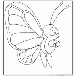 Kemon Butterfly Coloring Page