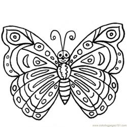 Beautifull butterfly Free Coloring Page for Kids