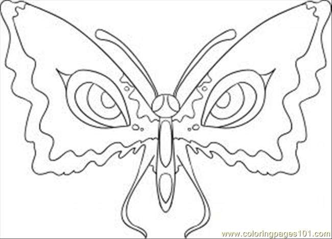 To Draw Butterfly Eyes Step 5 Coloring Page
