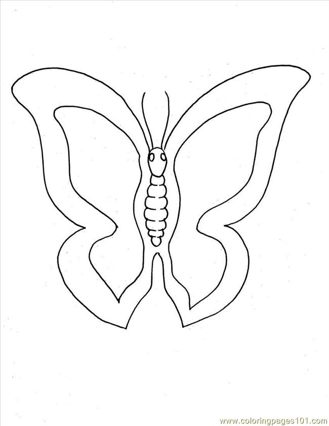Tterfly Coloring Pages 1 Full Coloring Page