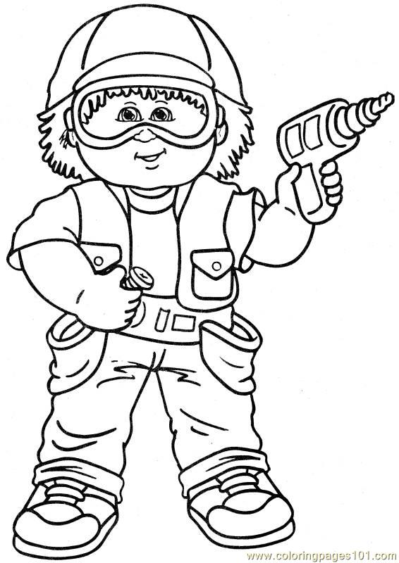 Cabbage Patch1 (1) Coloring Page