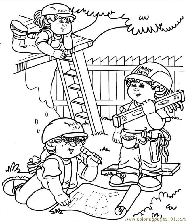 Cabbage Patch1 (3) Coloring Page