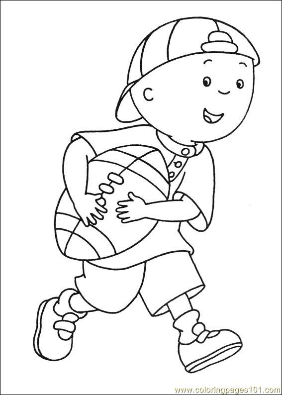 Caillou Coloring Pages 002 Coloring Page - Free Caillou Coloring ...