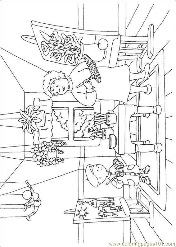 Caillou Coloring Pages 005 Page