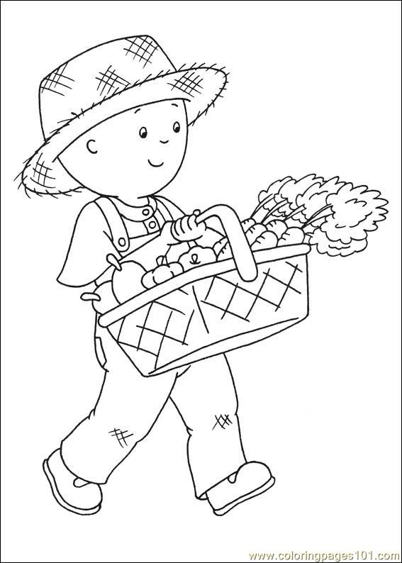 Caillou Coloring Pages 014 Page