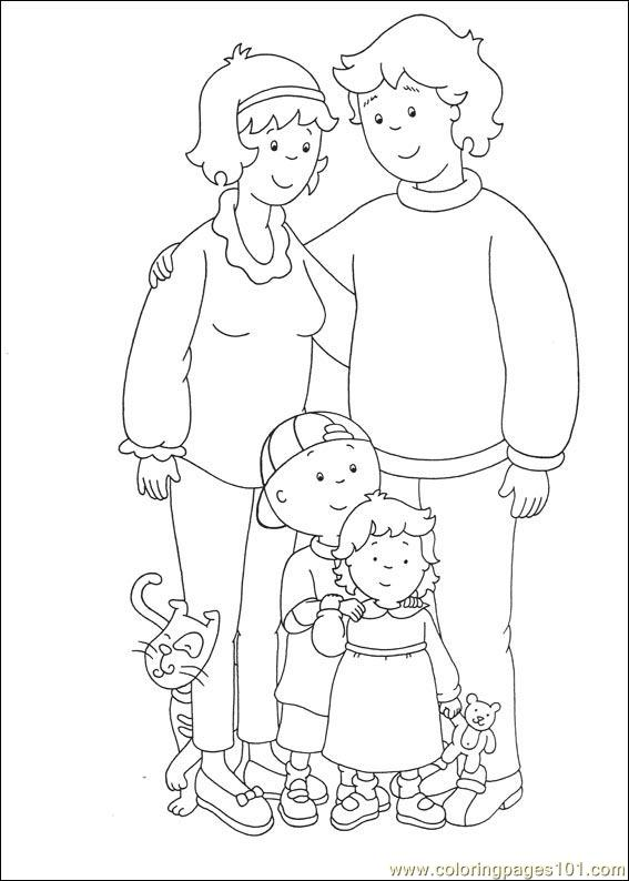 Caillou Coloring Pages 029 Page