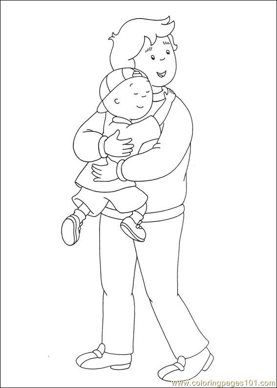 Caillou Coloring Pages 032 Page