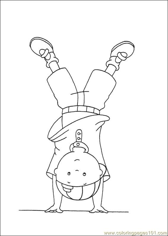 caillou coloring pages 041 coloring page  free caillou