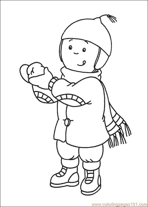 Caillou coloring pages halloween