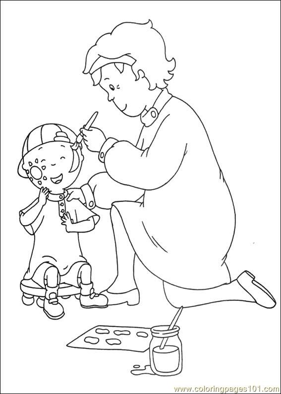 caillou 13 coloring page  free caillou coloring pages
