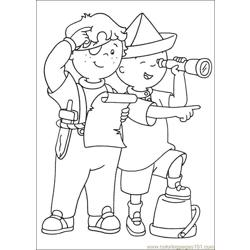 Caillou Coloring Pages 020