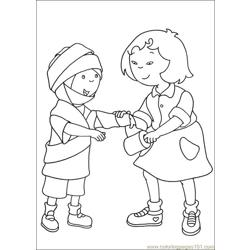 Caillou Coloring Pages 022