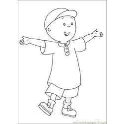 Caillou Coloring Pages 024