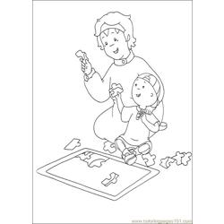 Caillou Coloring Pages 034