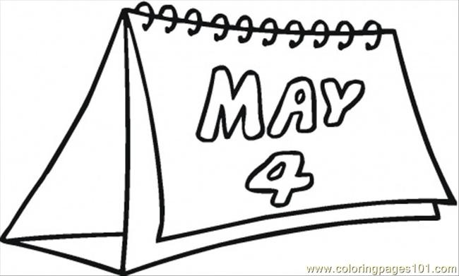 4th Of May Coloring Page Free Calendar Coloring Pages