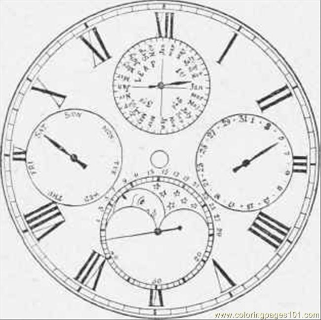 Perpetual Calendar Watch 70 Coloring Page