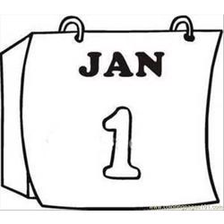 Calendar Page Clipart Image