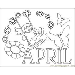 April Clr coloring page