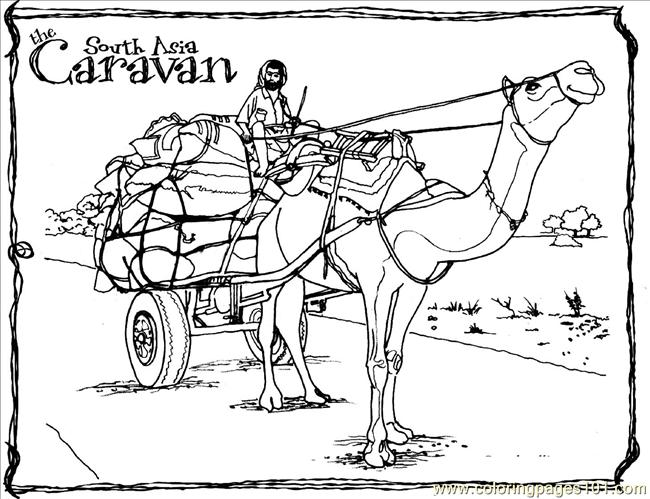 Camel Cart Coloring Page Free Camel Coloring Pages