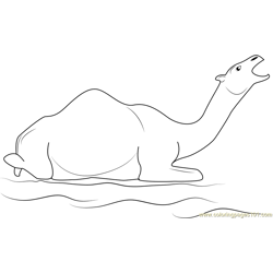 Camel Howling coloring page