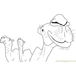Camelus Free Coloring Page for Kids