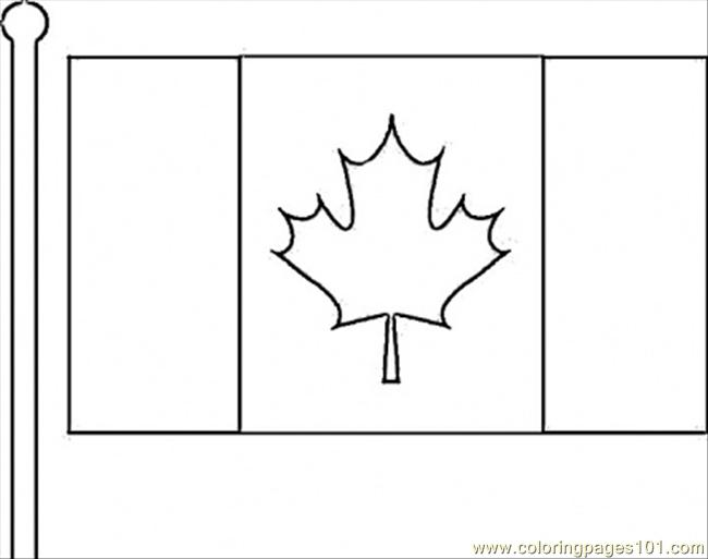 - Canadian Flag Coloring Page - Free Canada Coloring Pages :  ColoringPages101.com