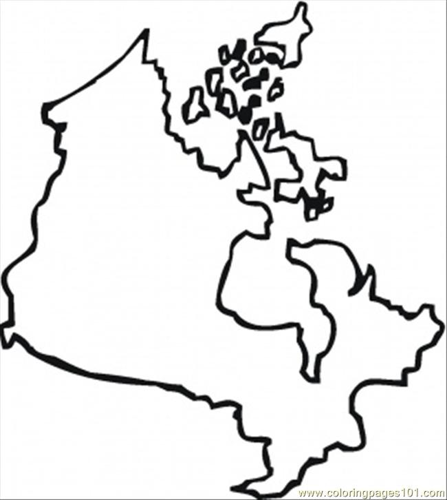 Map Of Canada Printable Coloring Page For Kids And Adults