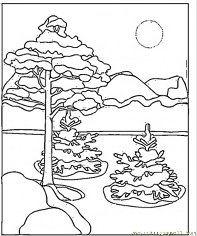 Beautiful Canadian Winter Coloring Page