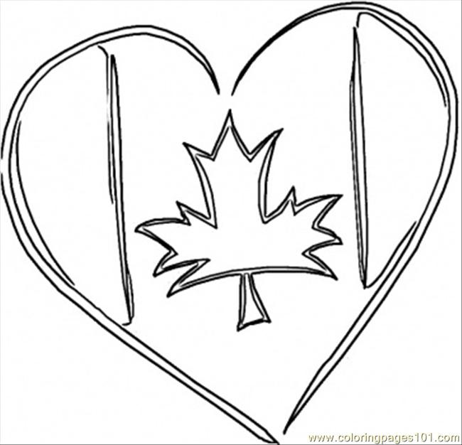 Canadian Heart Coloring Page Free Canada Coloring Pages
