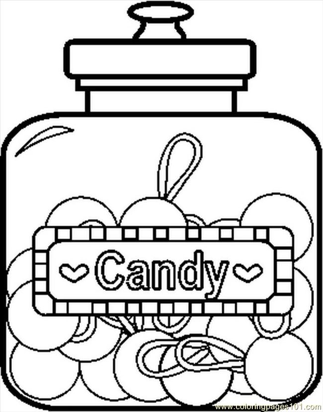 candyjar2bw coloring page
